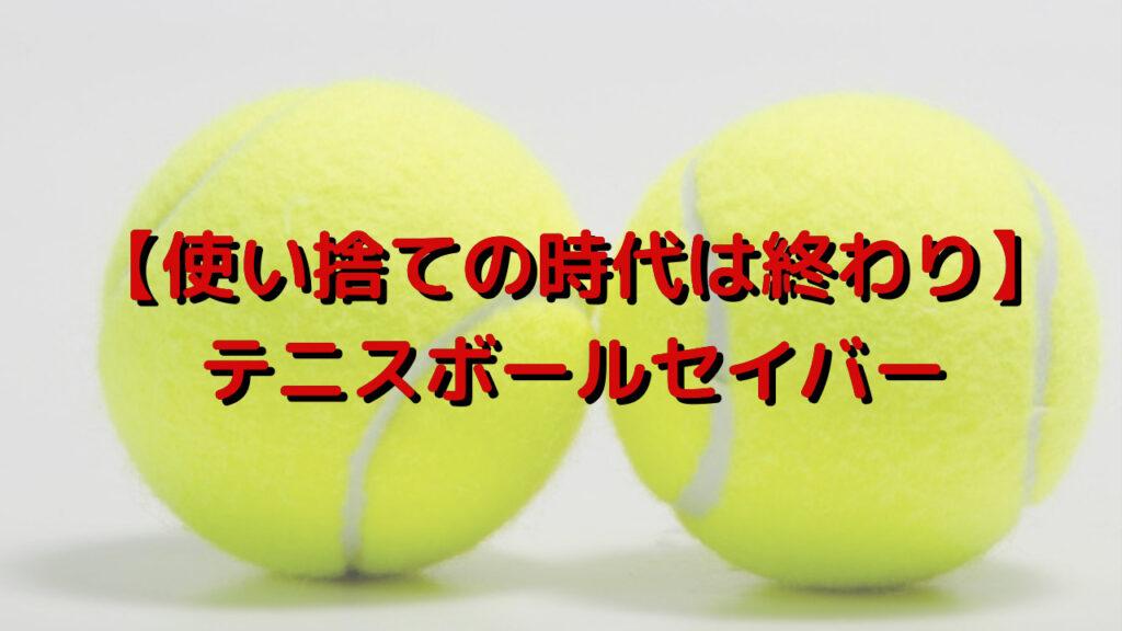 【使い捨ての時代は終わり】テニスボールセイバーを購入してみました。